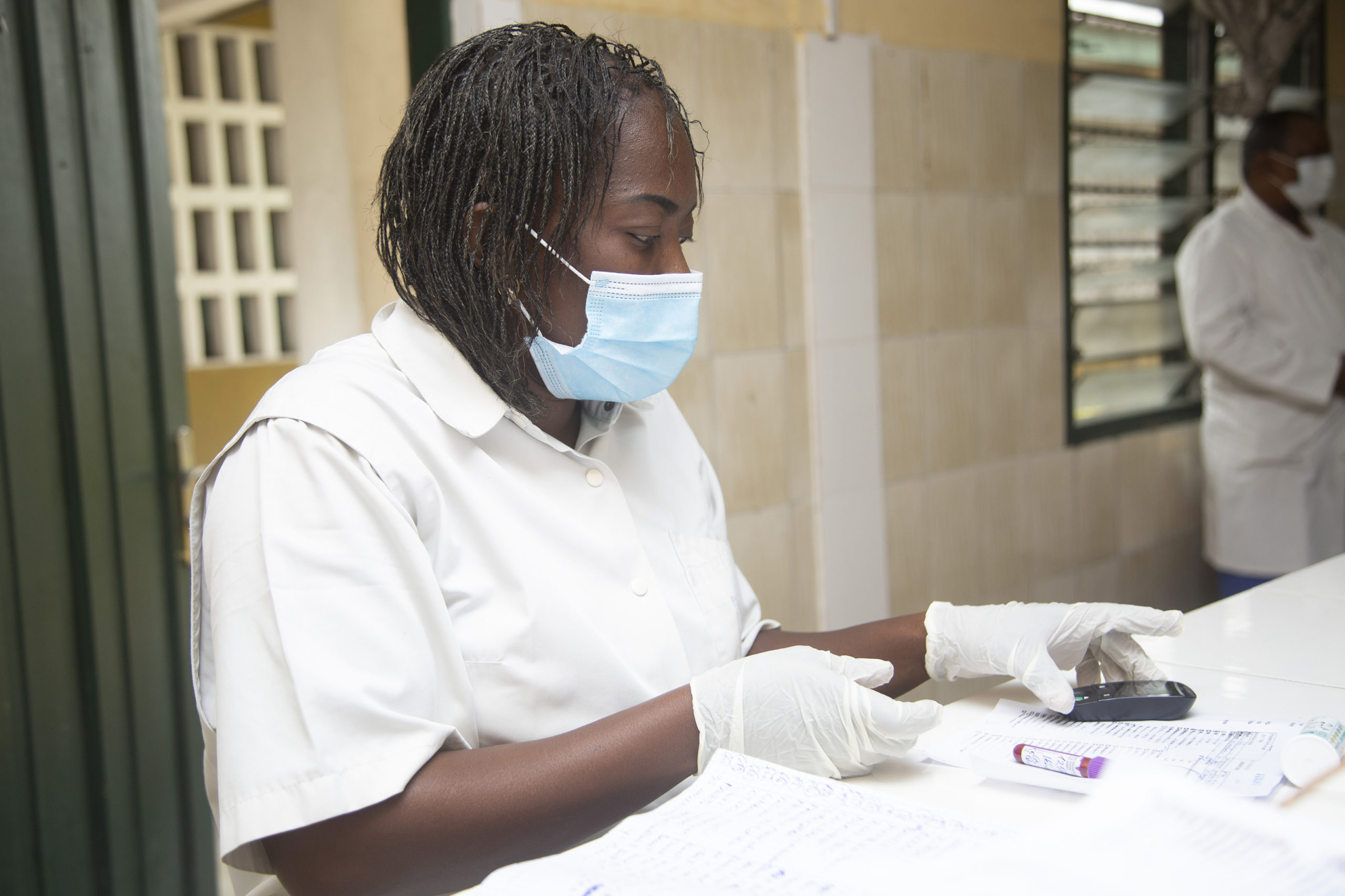Healthcare worker in mask